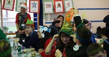 Christmas dinner and hats!