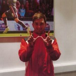 "Rotherham skipper Lee Frecklington does ""The Westhaven Way"" sign"